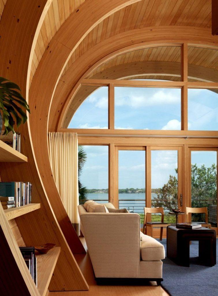 معماری مبتنی بر چوب در طراحی داخلی و خارجی در مقایسه با MDF